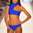 A model walks the runway at the Aquarella Swimwear show — Stock Photo