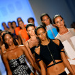 Stock Photo: Models walk runway finale at Suboo show