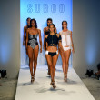Models walk the runway finale at the Suboo show — Photo