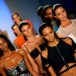 Models walk the runway finale at the Suboo show — Stock Photo