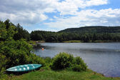 View to the mountain lake upstate ny at the summer time — Stock Photo