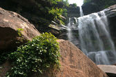 Wodospady w catskils górach północnej części stanu nowy jork i latem — Zdjęcie stockowe