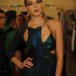 A Model attends the Pamela Gonzales presentation — Stock Photo