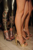 Closeup photo on shoes and legs — Stok fotoğraf
