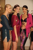 Models attend the Pamela Gonzales presentation — Zdjęcie stockowe