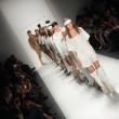 Models walk the runway finale at the Nicholas K show — Stock Photo