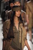 Models walk the runway finale at the Nicholas K show — Stock Photo