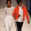Stock Photo: Models walk Tracy Reese runway