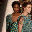 Stock Photo: Models walk runway finale at Tracy Reese fashion show