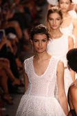 Models walk runway finale at Tracy Reese fashion show — Stock Photo