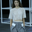 Model walks the runway at Alexander Wang show — Stock Photo