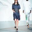 Model walks the runway at the Tibi Spring show — Foto Stock