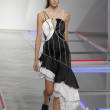 Model walks the runway at Rodarte show — Stock Photo