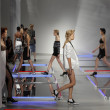 Models walk the runway at Rodarte show — Photo