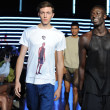 Models at Telfar fashion show — 图库照片