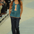 Stock Photo: Model at Tommy Hilfiger Women's fashion show