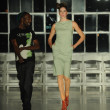 Stock Photo: Model walks during rehearsal at K. Nicole fashion show
