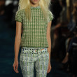 Stock Photo: Model at runway at Tory Burch fashion show