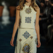 Stock Photo: Model walks runway at Tory Burch fashion show