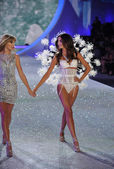Taylor Swift and model Lily Aldridge — Stock Photo