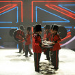 Stock Photo: British military drummers at Victoria's Secret