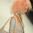 Model walks runway at Betsey Johnson show — Foto de Stock
