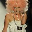 Model walks runway at Betsey Johnson show — Stock Photo