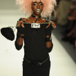 Model at Betsey Johnson fashion show — Stock Photo