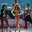 Fall Out Boy perform and model Candice Swanepoel — Stockfoto