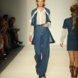 Model walks runway at Rachel Zoe show — Foto Stock
