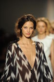 Models walk runway finale at Rachel Zoe show — Stock Photo