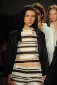 Models walk runway finale at Rachel Zoe show — Stock Photo