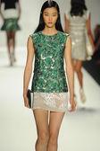 Model walks runway at J. Mendel show — Stock Photo