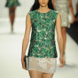 Model at J. Mendel fashion show — Foto Stock