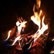 Fire in a fireplace — Stock Photo #37918837