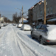 Streets in Brooklyn after snow storm — Stock Photo