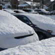 Stock Photo: Car under deep fresh snow in NYC