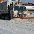 Stock Photo: Sanitation tracks cleaning streets