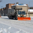 Sanitation tracks cleaning streets — Stock Photo #38177979
