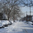 Streets in Brooklyn after snow storm — Stock Photo #38178037