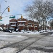 Stock Photo: Crossroad in Brooklyn after snow