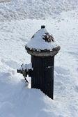 Hydrant under fresh snow — Stock Photo