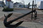 Vintage ancor at harbor — Zdjęcie stockowe