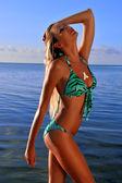 Bikini model posing sexy — Stock Photo
