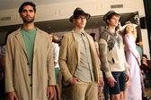 Models poses at the Sergio Davila fashion show — Stock Photo