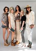 Models and shoe designer at Sergio Davila — Stock Photo