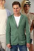 Designer Sergio Davila and models — Stock Photo