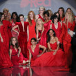 Stock Photo: Celebrity models at Go Red For Women