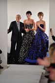 Designer Oscar De La Renta and Karlie Kloss — Stock Photo