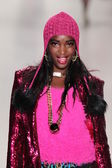 Model walks runway at Betsey Johnson — Stock Photo
